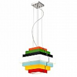 Onyx Multicolor Square Lighting Pendant - B2802