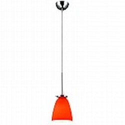 Belmont Orange Glass Mini Pendant - B3002O
