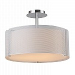 Lynch Iron Mesh White Drum Pendant