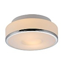 Lynch White & Chrome Drum Flush Mount - B4001