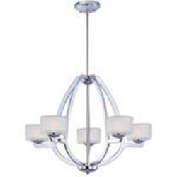 "Vortex Collection 5-Light 20"" Polished Chrome Pendant E22805-09PC"