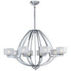 "Vortex Collection 8-Light 21"" Polished Chrome Pendant E22806-09PC"
