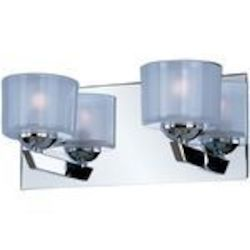 "Vortex Collection 2-Light 12"" Polished Chrome Bathroom Vanity Fixture E22812-09PC"