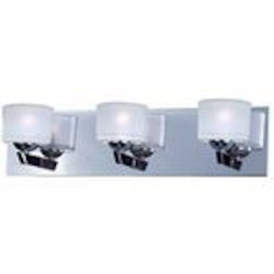 "Vortex Collection 3-Light 20"" Polished Chrome Bathroom Vanity Fixture E22813-09PC"