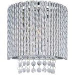 "Spiral Collection 1-Light 8"" Polished Chrome Crystal Wall Sconce E23130-10PC"