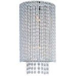 "Spiral Collection 2-Light 15"" Polished Chrome Crystal Wall Sconce E23131-10PC"