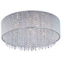 "Spiral Collection 7-Light 16"" Polished Chrome Crystal Flush Mount Ceiling Fixture E23133-10PC"