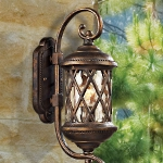 "Barrington Gate Collection 1-Light 18"" Hazelnut Bronze Outdoor Wall Lantern with Designer Water Glass 42030/1"