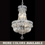 "Invisible Design 6-Light 16"" Chrome or Gold Mini Chandelier with European or Swarovski Crystals SKU# 10392"