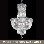 "Invisible Design 12-Light 27"" Chrome or Gold Chandelier with European or Swarovski Crystals SKU# 10394"