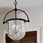 "Mercury Collection 3-Light 13"" Old Iron Pendant F2564"