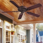Vintage Rust 5 Blade 54In. Indoor / Outdoor Energy Star Ceiling Fan - Blades Included