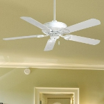 White 5 Blade 54In. Indoor / Outdoor Energy Star Ceiling Fan - Blades Included
