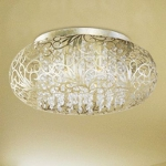 "Arabesque Collection 7-Light 18"" Golden Silver Flush Mount 24150BCGS"
