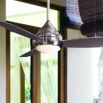 "Concept I Series 52"" Wet Location Brushed Nickel Outdoor Ceiling Fan with Light Kit F577-BNW"
