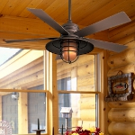 Oil Rubbed Bronze 5 Blade 54In. Indoor / Outdoor Ceiling Fan - Light, Wall Control, And Blades Included