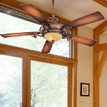 "Napoli Series 56"" Tuscan Patina Ceiling Fan with Aged Champagne Light Kit F705-TSP"