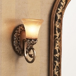 "Salon Grand Collection 1-Light 5"" Florence Patina Wall Sconce with Scavo Glass 5551-477"