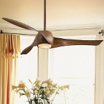 Distressed Koa 3 Blade 58In. Ceiling Fan - Light, Wall Control And Blades Included