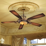 "Napoli II Series 68"" Tuscan Patina Ceiling Fan with Aged Champagne Light Kit F715-TSP"