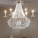 "Dutchess Collection 6-Light 30"" Burnished Silver Chandelier F2708/6BUS"