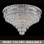 Invisible Design 10-Light 20'' Gold or Chrome Ceiling Flush Mount with European or Swarovski Crystals SKU# 10368