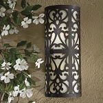 "Nanti Collection 2-Light 18"" Iron Oxide Indoor/Outdoor Wall Sconce with Etched Vanilla Glass 1492-357-PL"