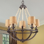 "Natural Rope Collection 5-Light 22"" Aged Bronze Chandelier 63015-5"