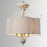 "Salento Series 4-Light 18"" Persian White Semi-Flush Mount or Chandelier with Shade 2706-18-70"