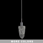 "Hollywood Design 1-Light 8"" Square Basket Mini Pendant Dressed with 30% Lead or Swarovski Spectra Crystals SKU# 10254"