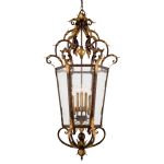 "Zaragoza Collection 8-Light 51"" Golden Bronze Pendant with Seeded Glass N3639-355"