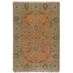 Akbar Collection 6' x 9' Rust Wool Rug 70004-6