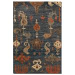 Bali Collection 8' x 10' Blue/Gray Jute Rug 70007-8