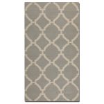 Bermuda Collection 5' x 8' Gray Wool Rug 71014-5