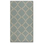 Bermuda Collection 5' x 8' Blue Wool Rug 71016-5