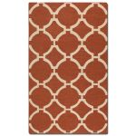 Bermuda Collection 5' x 8' Burnt Sienna Wool Rug 71017-5