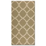 Bermuda Collection 5' x 8' Khaki Wool Rug 71018-5