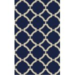 Bermuda Collection 5' x 8' Indigo Wool Rug 71020-5