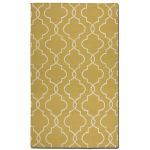 Devonshire Collection 5' x 8' Gold Wool Rug 71023-5