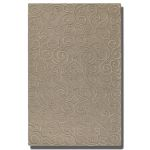 Vienna Collection 5' x 8' Taupe Wool & Viscose Rug 73041-5