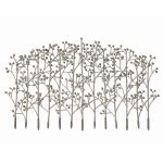 Iron Trees Antiqued Silver Champagne Handcrafted Metal Wall Decor 05018
