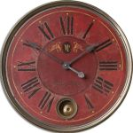 "Regency Villa Tesio Collection 23"" Red Wall Clock 06037"