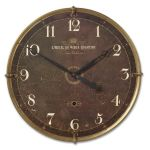 "Hotel Du Vieux Quartier 30"" Weathered Clock with Crackled Finish 06044"