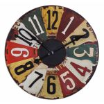 "Vintage License Plates Collection 29"" Wall Clock 06675"