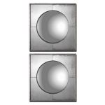 Savio Squares Collection Champagne Silver Mirror (Set of 2) 12829