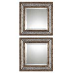 "Uttermost Set of 2 Norlina 18"" Square Wall Mirrors 13790"