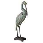 Keanu Collection Blue-Green Heron Sculpture 19566