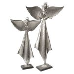 Angels Collection Antique Nickel Sculpture, (Set of 2) 19570