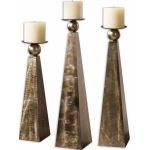 Cesano Collection Bronze Candleholders, (Set of 3) 19652
