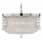 "Fascination Collection 3-Light 21"" Chrome Plated Chandelier with Crystal Accents 21138"